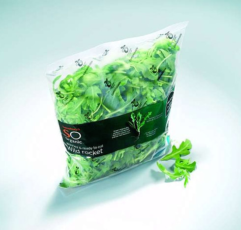 Sainsbury's New Compostable Salad Packaging